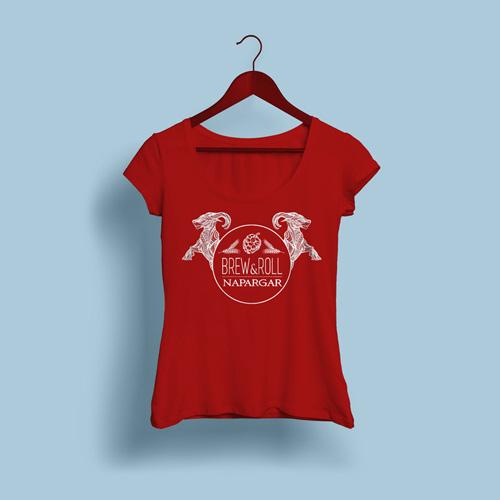 camiseta brew&roll napargar